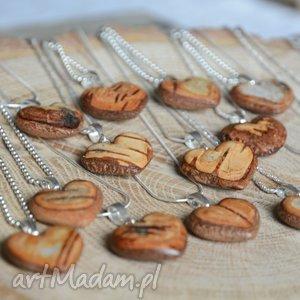 wisiorki wisiorek w kształcie serca z kory brzozy - prosto drzewa, serce, serduszko