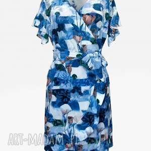 hand-made sukienki bien fashion sukienka zakładana kopertowo w kwiaty