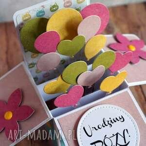 Guma balonowa scrapbooking kartki cynamonowe życzenia urodzinowe