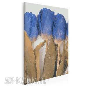 obraz na płótnie - niebieskie tulipany 50x70 cm 04001, tulipany, bukeit