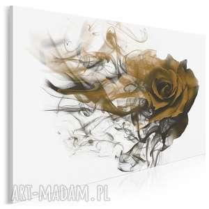 obraz na płótnie - róża kwiat dym brązowy 120x80 cm 90201, róża