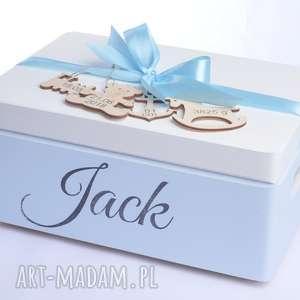 Prezent Pudełko na pamiątkę Kuferek wspomnień Urodziny Chrzest Roczek Metryczka