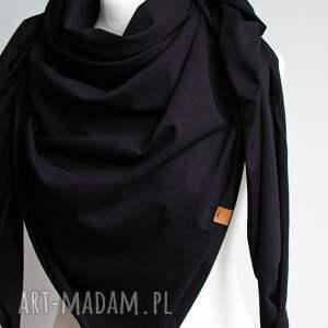 czarna duża chusta bawełniana damska, szal na jesień, damska
