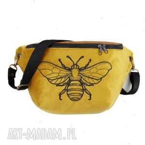 nerka xxl pszczółka - ,nerkapszczoła,nerkainsekt,biodrówka,torebka,haft,zapętlonanitka,