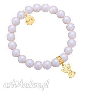 perłowa bransoletka z pereł swarovski® crystal ze srebrnym