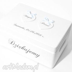 ślubne pudełko na koperty kopertówka personalizowane napis dziękujemy, pudełka