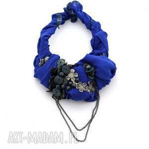 ultramaryna naszyjnik handmade - naszyjnik, kolia, niebieski, kobalt, szafir, ultramaryna