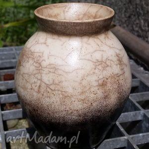 ceramika wazon dymny, wazon, ceramika, glina, raku dom, święta prezenty