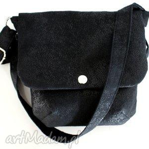 manufakturamms składanka vege mini czerń, torba, torebka, mini, czerń torebki