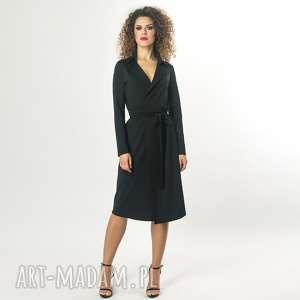 Żakietowa sukienka midi, żakietowa, elastyczna, elegancka