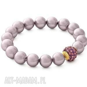 Heather pearl with crystal bead. - ,perła,kryształek,