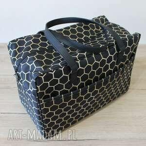 podróżne torba podróżna - plastry miodu, samolot, wakacje, podróż, pakowna