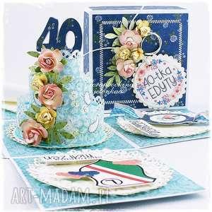 exploding box - na 40 urodziny - pudełko, sukienka, 40, urodziny, zegarek, legia
