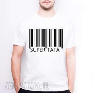 tailormade koszulka męska super tata, dlataty, dlaniego, dzienojca, dzientaty