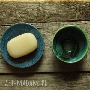 enio art mydelniczka z miseczką, mydelniczka, mydło, mydelnica