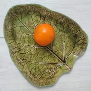 ceramika dekoracyjny talerz z odbiciem rośliny, dekoracyjna
