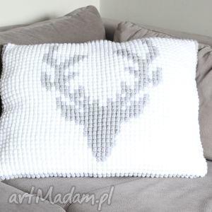 poduszka szydełkowa jeleń, skandynawski, poduszka, poduszki dom