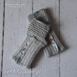 rękawiczki mitenki - rękawiczki, mitenki, dodatki, włóczkowe
