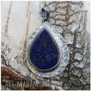 hand made wisiorki lapis lazuli i srebro - wisior 1417a