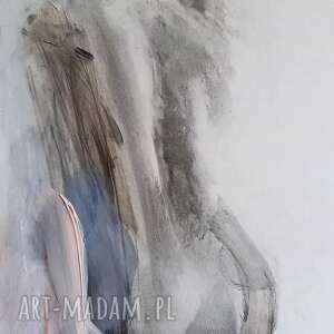 rysunek z różem 26x60, obraz kobieta, grafika do salonu