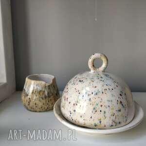 prezent na święta, maselniczka i dzbanuszek, maselnica, ceramika