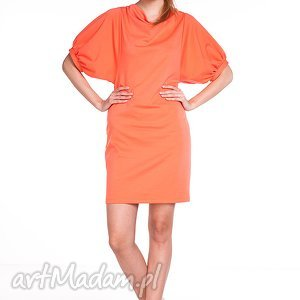 sukienki sukienka marcela - łososiowa , moda