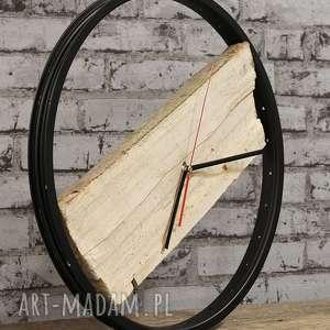 Prezent Zegar Wood Black, zegar, drewiany, duży, drewno, prezent, rowerzysta