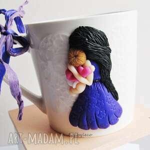 kubki kubek ceramiczny - serce matki, kubek, mama, dziecko, matka, masa, fimo