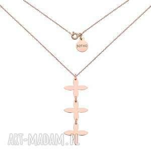 naszyjnik z rozetkami z różowego złota - różowezłoto