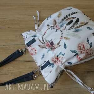 hand made na ramię shopper bag sack - łapacze snów boho