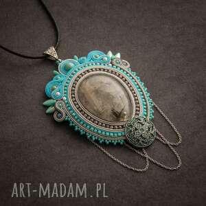 hand-made biżuteria wisior naszyjnik sutasz w stylu retro