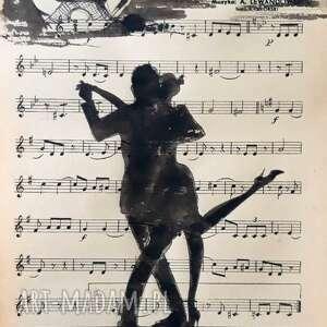 tango 2 akwarela na papierze nutowym artystki adriany laube - miłość, zakochani