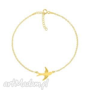 celebrate - swallow connector - bracelet g - jaskółka, pozłacana