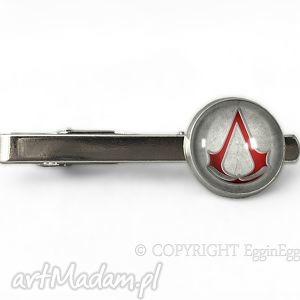 assassin s creed - spinka do krawata - szara męska, assassins, prezent