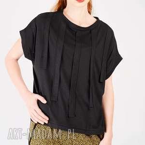 t-shirt z aplikacją, t-shirt, aplikacja, frędzle, naszywany, naszywka, długi