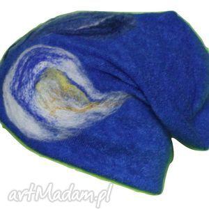 ręcznie robione czapki czesanką filcowane wełniane