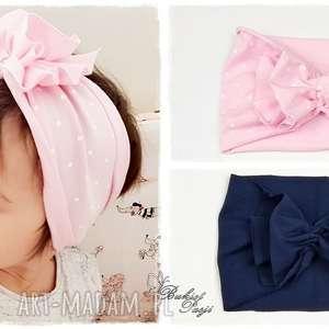 Zestaw opasek Turban - dwie sztuki, opaska, turban, opaska-turban, bawełna, jesień