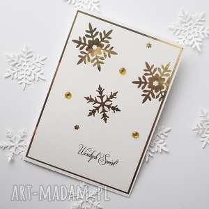hand-made pomysł na prezent kartka świąteczna - glam