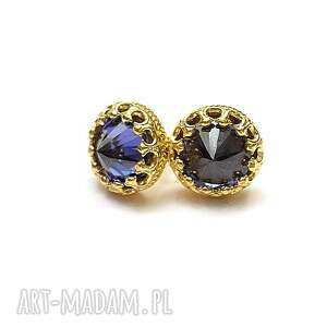 koronkowe gold /ice blue/ - sztyfty