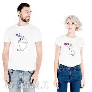 Zestaw koszulek dla par mr-muminek mrs migotka koszulki
