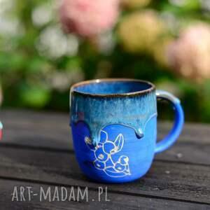 kubek handmade duży kamionkowy - jagoda -360 ml, ceramika na prezent
