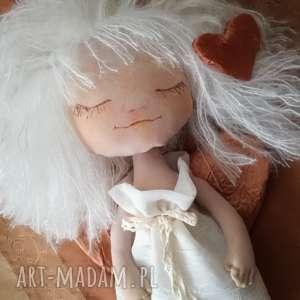 Prezent Dekoracja tekstylna Aniołek Magnolia, anioł, unikat, podziękowanie, prezent