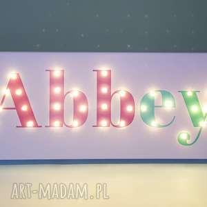 COSnieCOS! NAPIS LED obraz neon Twoje Imię prezent