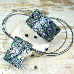 komplet biżuterii ważki, ważka, biżuteria z ważką, zawieszka ważka