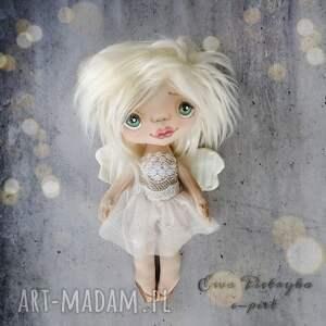 dekoracje aniołek - figurka tekstylna ręcznie szyta i malowana, aniołek, lalka