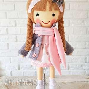 ręcznie wykonane lalki malowana lala laura z szalikiem