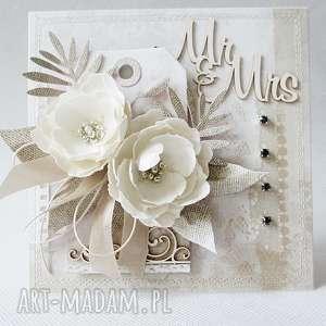ręczne wykonanie scrapbooking kartki ślubna kartka w pudełku
