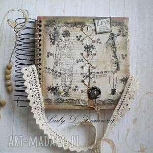 ręcznie zrobione scrapbooking notesy notatnik/sekretnik /po prostu bądż...