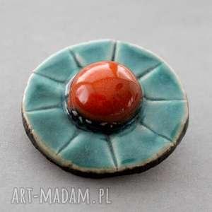 siła -broszka ceramiczna, minimalizm design, skandynawski, prezent, urodziny, dodatek