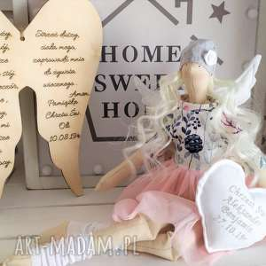 ręcznie zrobione lalki anioł lalka na chrzest święty tilda